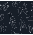 Origami hand drawn doodle seamless pattern vector image
