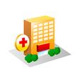 icon hospital vector image vector image