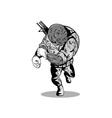 Alien Military Running vector image