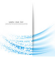 abstract wave background blue wave turns into a vector image