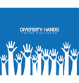 diversity hands design vector image