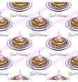 Pancakes Seamless Pattern vector image