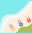 a banner with an landscape beach vector image