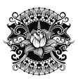 Beautiful lotus flower line vector image