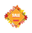 colorful sale card or banner with autumn leaves vector image