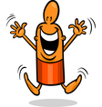 excited guy cartoon vector image