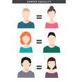 gender equality with female vector image