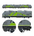 green locomotive rail transportation vector image