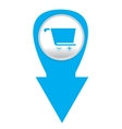 Isolated web pin vector image
