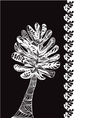 leaves pattern zen tree vector image