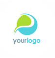 round abstract ecology logo vector image
