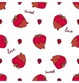 Seamless pattern with doodle heart shaped vector image