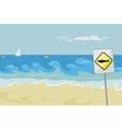 Seascape With Warning vector image