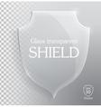 Transparent glass shield vector image