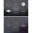 Trendy Retro Vintage Insignias Bundle Volume vector image