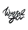 winter sale sale hand lettering design vector image