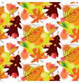Autumn leaf seamless pattern background vector