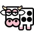 Cartoon cow vector image