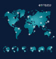 Modern world map design vector image