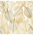 Seamless pattern of yellow and orange autumn vector image