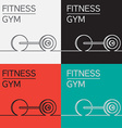 Rod barbell icon eps vector image