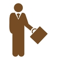 Businessman icon from Business Bicolor Set vector image