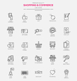 Line icons set Shopping Commerce vector image vector image