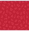 Hand Drawn Lowercase Letters Seamless Pattern Red vector image vector image