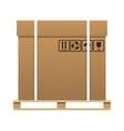 Big brown closed carton delivery box vector image
