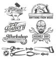 workshop emblem vector image