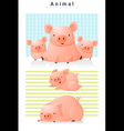 Animal background with Pigs 2 vector image