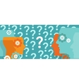 question marks everywhere around head confused vector image