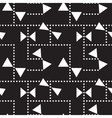 abstract seamless pattern with triangles vector image vector image