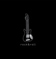 electric guitar logotype vector image
