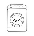 kawaii washing machine icon home appliance symbol vector image