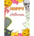 Halloween cartoon Signs and Symbols card frame vector image