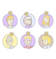 Collection of Office Stars Best Worker vector image