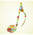 Colorful music texture background vector image