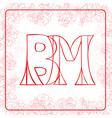 BM monogram vector image vector image