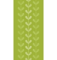 Abstract textile green vines leaves vertical vector image vector image