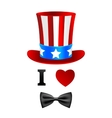 I love Uncle Sam card vector image vector image