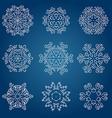 Snowflake icon Winter theme Winter snowflakes of vector image