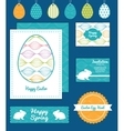 colorful horizontal ogee set of Easter vector image