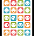 icons set 20 faces and characters different in vector image vector image