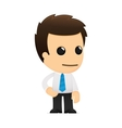 cartoon office worker vector image