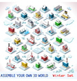 Game Set 07 Building Isometric vector image