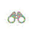 binoculars icon abstract vector image