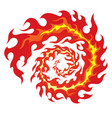 circle of red flames vector image