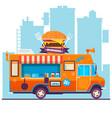food truck festival menu food brochure street vector image
