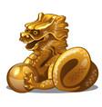 golden figure of dragon chinese horoscope symbol vector image